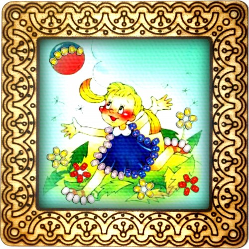 Magnet bead embroidery kit «M-0140 Catching the Ball»