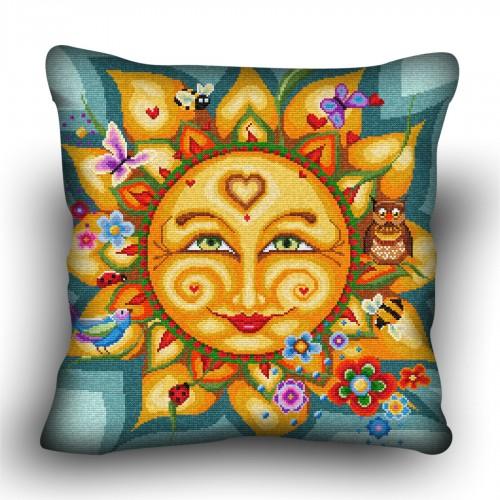 Pillow cross stitch kit «H-0027 Sartorial Sol»
