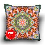 Pillow Cross stitch pattern «pdf-H-0013 Mellow Mandala»