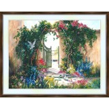 Bead embroidery kit «A-0002 The Garden Gate»