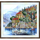 Bead embroidery kit «A-0022 Houses on the Bay»
