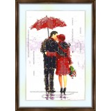 Bead embroidery kit «A-0053 The Kiss»