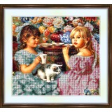 Bead embroidery kit «A-0063 The Tea Party»