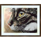 Bead embroidery kit «A-0073 Meow!»