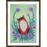 Bead embroidery kit «A-0083 Mesmerized Kitty»