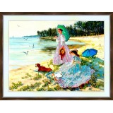 Bead embroidery kit «A-0123 Summer at the Lake»