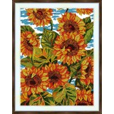 Bead embroidery kit «A-0314 Sunflowers in the Field»