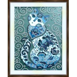 Bead embroidery kit «A-0334 Fairy Cat»