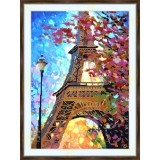 Bead embroidery kit «A-0344 The Eiffel Tower in Spring»