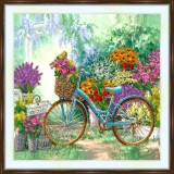 Bead embroidery kit «A-0434 Touring in the Garden»