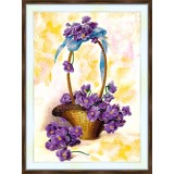 Bead embroidery kit «A-0454 Basket of Violets»