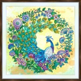 Bead embroidery kit «A-0468 Crescent Moon Peacock»