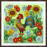 Bead embroidery kit «A-0531 Rooster»