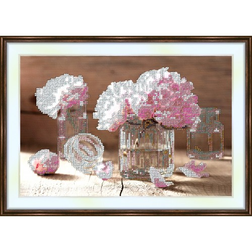 Bead embroidery kit «K-0002 Country House Composition»