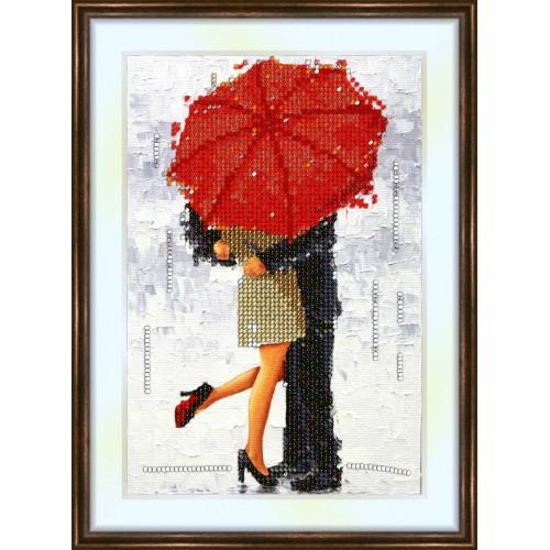 Bead embroidery kit «K-0022 Kiss under the Umbrella»