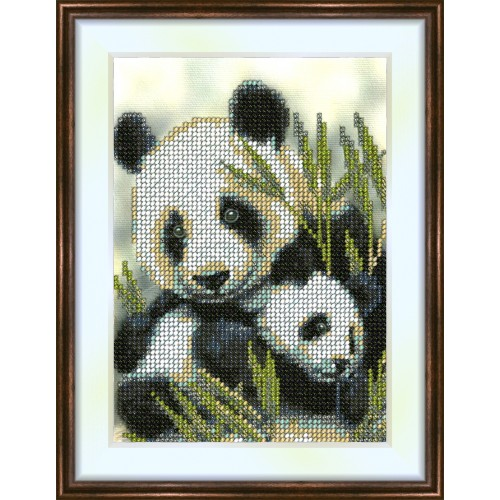 Bead embroidery kit «K-0042 Pandas»