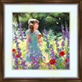 Bead embroidery kit «K-0052 Watching the Butterflies»