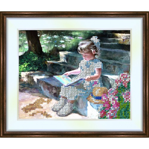 Bead embroidery kit «K-0062 Love of Reading»