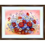 Bead embroidery kit «K-0072 Wildflowers 3»