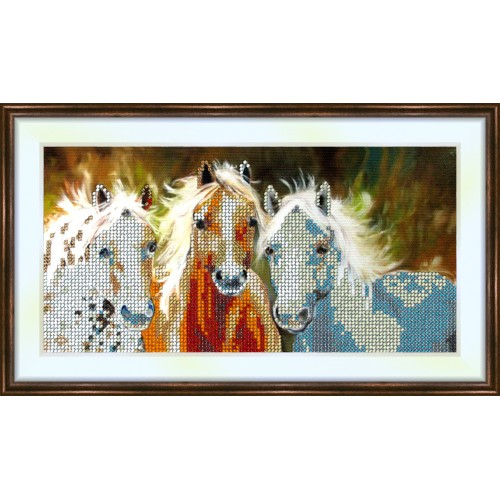 Bead embroidery kit «K-0102 Equine Trinity»