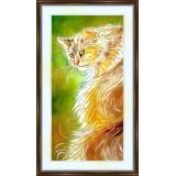 Bead embroidery kit «K-0112 Long-Haired Orange Tabby Cat»