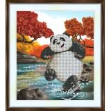 Bead embroidery kit «K-0142 Playful Panda»