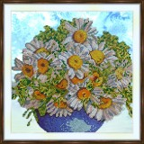 Bead embroidery kit «K-0183 Chamomile Bouquet»