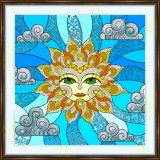 Bead embroidery kit «K-0203 Stylized Sun»