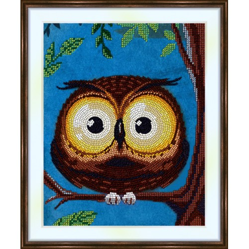 Bead embroidery kit «K-0213 Big Eyed Owl»