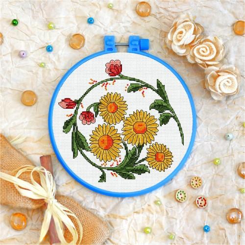 Cross stitch kit «T-0008 Sunflowers»
