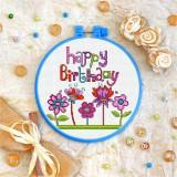 Cross stitch kit «T-0068 Happy Birhday 4»
