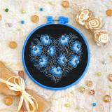 Cross stitch kit «T-0078 Blue Flowered Heart»