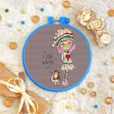 Cross stitch kit «T-0118 I Love Winter»