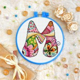 Cross stitch kit «T-0194 Letter M»