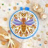 Cross stitch kit «T-0215 Mandala Bee»