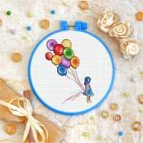 Cross stitch kit «T-0233 Rainbow Balloons»