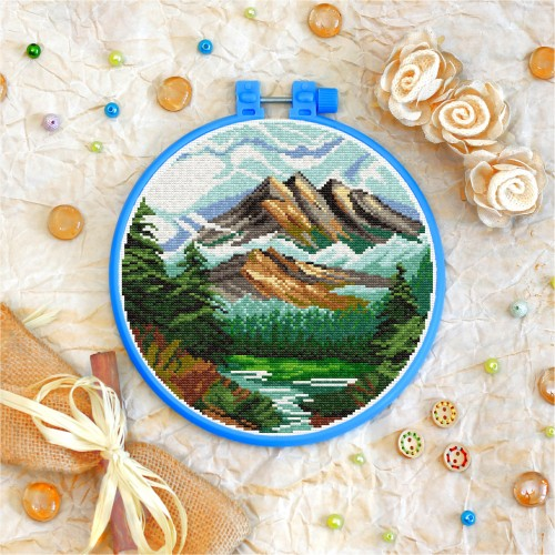 Cross stitch kit «T-0260 Mountain Landscape»