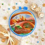 Cross stitch kit «T-0431 Arches Park»