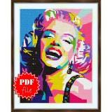 Cross stitch pattern «pdf-S-0013 Marilyn Monroe»