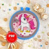 Cross stitch pattern «pdf-T-0003 Baby Unicorn»
