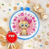 Cross stitch pattern «pdf-T-0013 Miss Kitty»