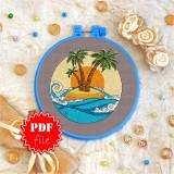 Cross stitch pattern «pdf-T-0033 Tropical Island»