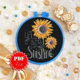 Cross stitch pattern «pdf-T-0093 You Are My Sunshine»