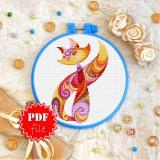 Cross stitch pattern «pdf-T-0153 Color Kitty»