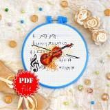 Cross stitch pattern «pdf-T-0274 The Violin»