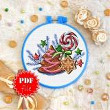 Cross stitch pattern «pdf-T-0283 Gingerbread»