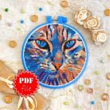 Cross stitch pattern «pdf-T-0296 Blue Eyes»