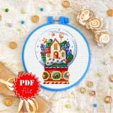 Cross stitch pattern «pdf-T-0307 Gingerbread House»