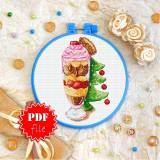 Cross stitch pattern «pdf-T-0341 Xmas Ice Cream»