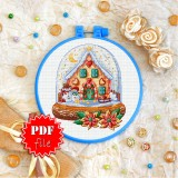 Cross stitch pattern «pdf-T-0360 Snowmen Family»